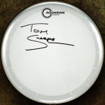 Tom Sharpe Signed Drumhead
