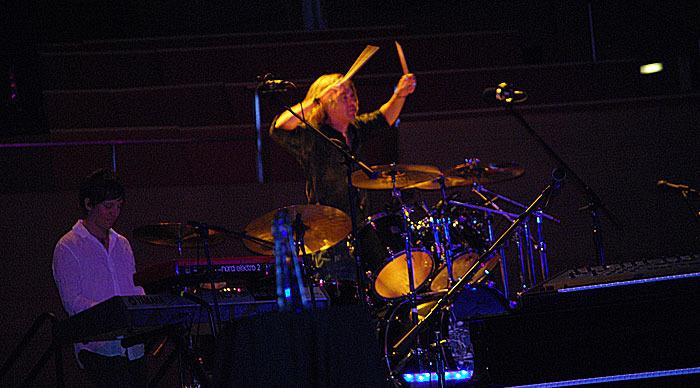 Tom Sharpe DennisDeYoung on Drumset